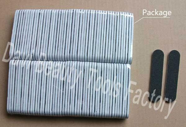 50pcs Black Mini Nail File 100/180 Sawing File Buffing 9cm/3.5 Inch ...
