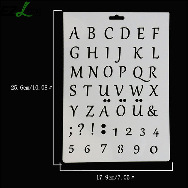 1pc Cake Decorating Tool Alphanumeric Symbols Printing Mold