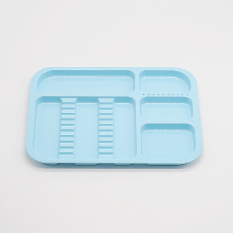 1Pcs Dental Clinic Item Divided Separate Type Tray Plastic Instrument Autoclavable