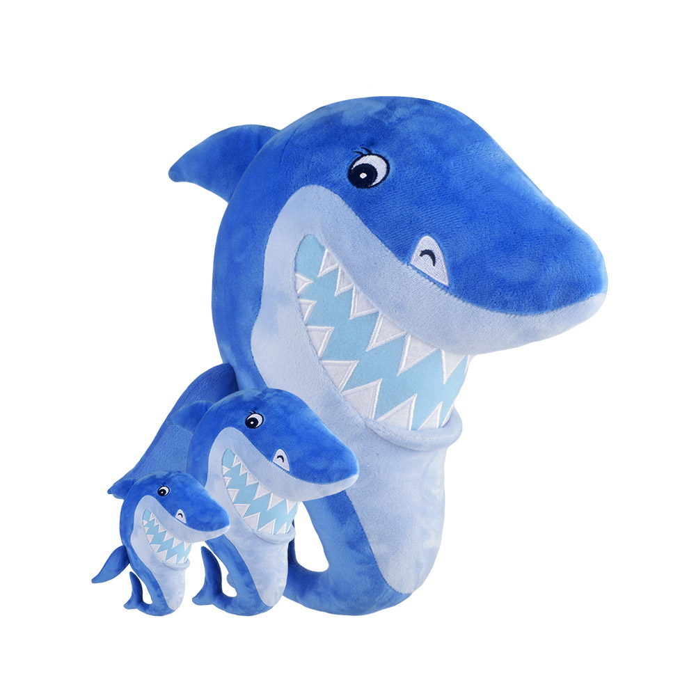 13cm Baby Blue Shark Plush Toy Three Kinds Of Size Stuffed Animals Cute Girls Kids Soft Pillow Kawaii Big Mouth Sharks Gifts