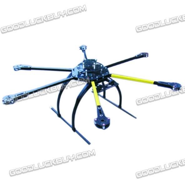 ATG 700-X6-AL 2212/2216 Folding carbon fiber Frame Hexa Multicopter w/ Dual Motor Mounting Plate atg 700 x6 al 2212 2216 folding carbon fiber frame hexa multicopter w dual motor mounting plate
