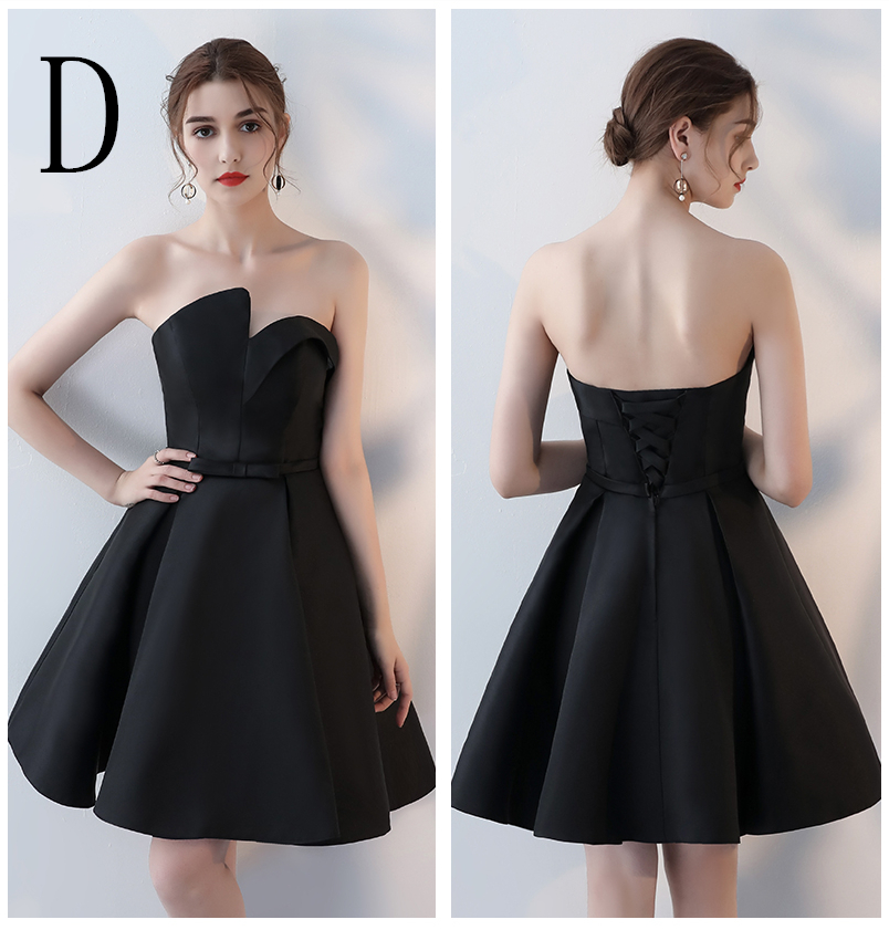 cute short strapless black sweet 16 cute 8th grade graduation ... a613026e73ed