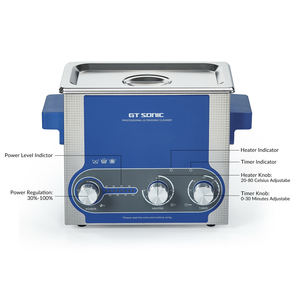 GTSONIC Adjustable Ultrasonic Cleaner Bath For Jewelry Ring And Watches Glasses 8