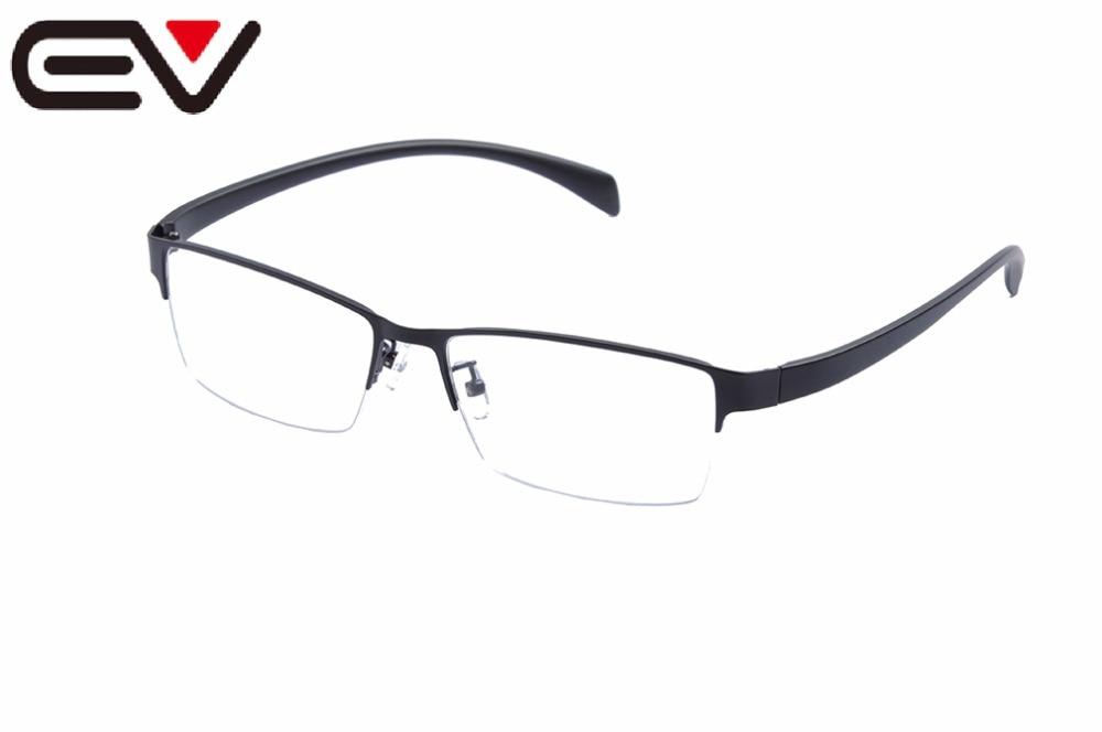 EV 60mm-17mm-142mm Super Large Wide Oversized Eyeglasses Frames Men Half-Rim Metal Business Glasses Frames Oculos De GrauEV1454
