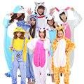 2016 New Unicorn  Stitch Winter Pajamas For Women/Men/Couple Warm Flannel Adult Homewear Winter Loungewear Sleep Animal Pyjamas