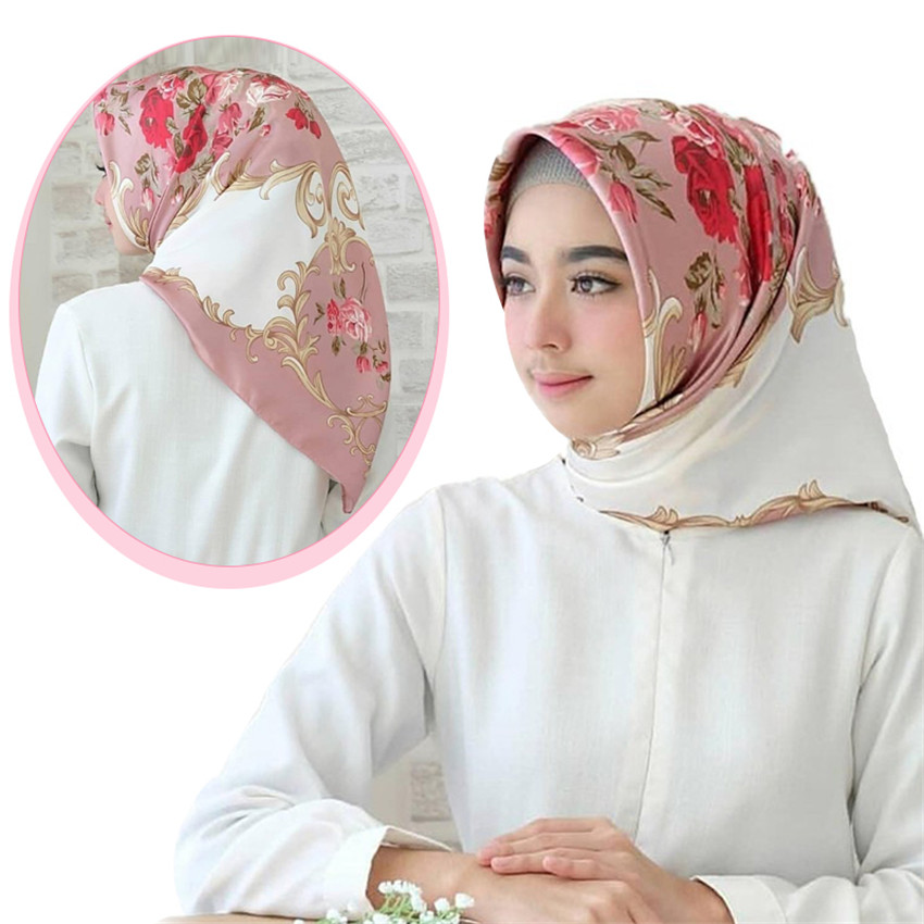 Womens lace scalloped hijab wrap summer mesh headscarf