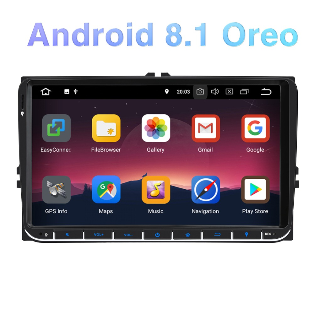 Pumpkin 2 din 9 Android 8.1 Car Multimedia Player Radio GPS Fastboot Stereo No DVD For VW/Skoda/Golf/Volkswagen