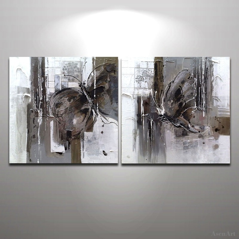 Butterfly Abstract Modern Hand Painted Oil Painting Home Wall Decoration