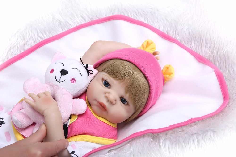 Кукла npk 19 дюймов 48 см Reborn Baby Dolls полностью силиконовый Возрожденный ребенок кукла, винил игрушки подарки милые пламаны для девочек и мальчиков bonecas