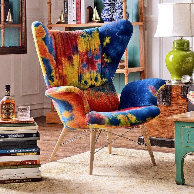 Нечетные ряды выход кэди поп-воздушными стиль мебели импортировала ткани галстук-окрашенные ткани кресло стульчик n