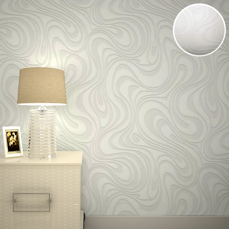 3D Embossed Paintable Wallpaper Abstract White Stripes Textured Modern House Ceiling Decorative In Wallpapers From Home Improvement On