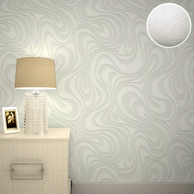 Great 3D Embossed Paintable Wallpaper Abstract White Stripes Textured Wallpaper  Modern House Ceiling Decorative