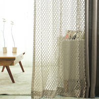 Retro Cellular Nest Voile Curtains For Living Room Bedroom Hotel Decor Sheer Curtain And Tulle Voile