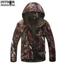 Lurker shark skin softshell v4 táctico militar chaqueta impermeable a prueba de viento cálido abrigo con capucha camuflaje camo ejército clothing(China (Mainland))