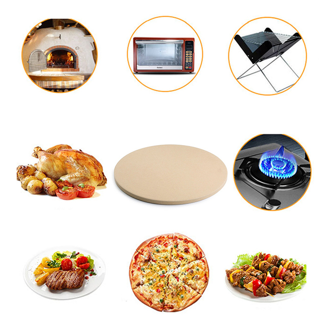 Cooking Baking Pizza Stone for Oven and BBQ Grill