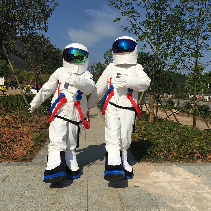 Halloween Outfit Costumes suit spaceman cosmonaut mascot costume for adults Free shipping