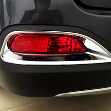 Для Kia Sorento L 2015 Chrome 2 шт. заднего Tail Туман свет лампы ободок Рамки крышка противотуманных фар отделкой автозапчасти интимные аксессуары