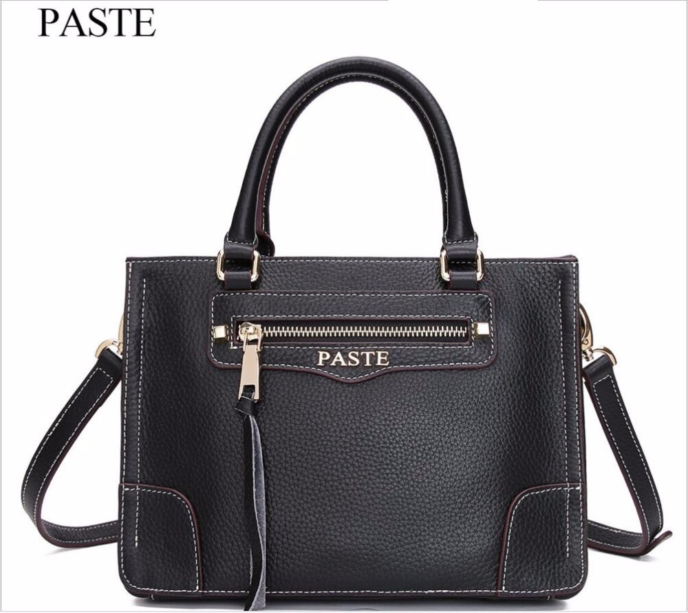 PAST High-end Luxury Brand Handbags New Leather Handbags Fashion First Layer Cowhide Smiling Bag Handbag Shoulder Messenger Bag fashion leather handbags luxury head layer cowhide leather handbags women shoulder messenger bags bucket bag lady new style