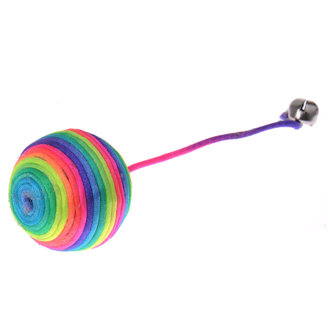 Colorful Nylon Scratch Ball Toy for Cats