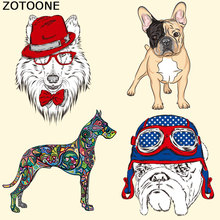 ZOTOONE Cute Patches Dog Stickers Print on T-shirt Dresses Jeans A-level Washable Iron Heat Press Appliqued Irons C