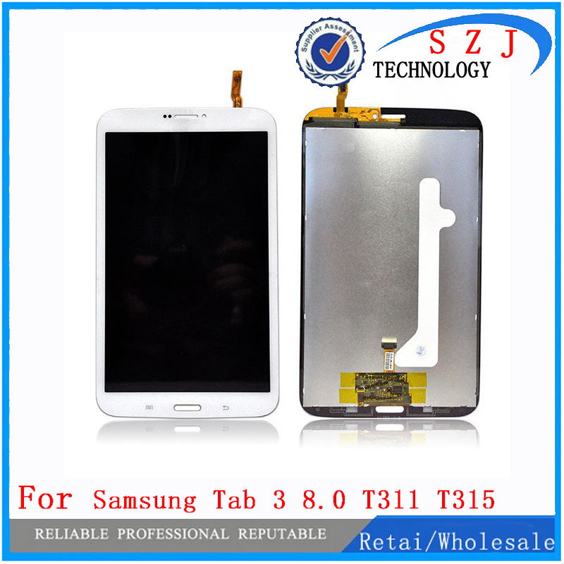 New 8 inch For Samsung Galaxy Tab 3 8.0 SM-T311 T311 T315 SM-T315 LCD Display Screen+Touch Digitizer Assembly Free shipping lcd display touch screen digitizer assembly replacements for samsung galaxy tab e t560 sm t560nu 9 6 free shipping