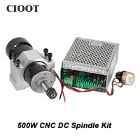 Free Shipping CNC 500W Spindle Motor ER11 Collet Chuck 0 5KW 220V Air Cooled Spindle 52mm
