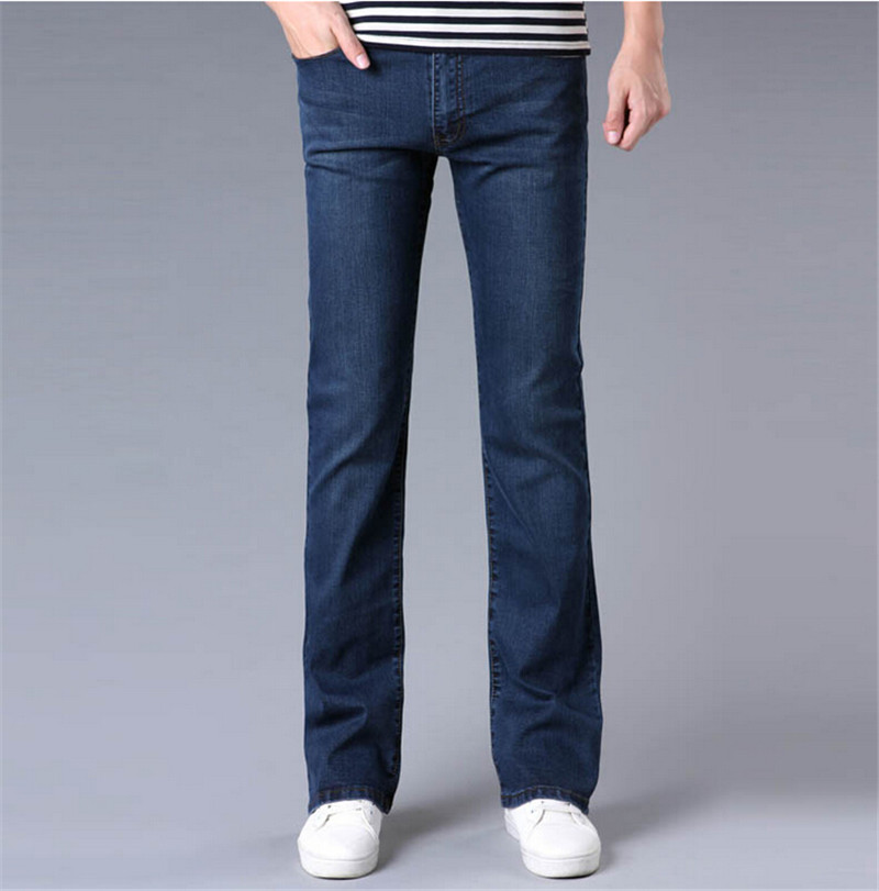 Boot Jeans for Men The Boot Jean from Abercrombie & Fitch is the best choice if you're looking for the ultimate pair of bootcut jeans for men. This classic fit is relaxed in the thigh and has a leg opening that looks great with any shoe, especially your favorite boots.