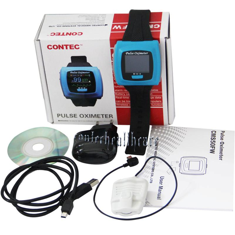 CONTEC CMS50FW Bluetooth Wrist Finger Pulse Oximeter SPO2 PR USB PC Software new original 516 325 g s4 c warranty for two year
