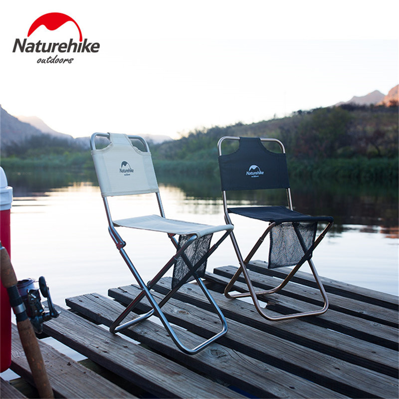 Image 5 - Naturehike Portable Folding Chair Outdoor Beach Camping Picnic Wear resistant Aluminum Leisure Chair Back Fishing Chairs Stools-in Camping Chair from Sports & Entertainment
