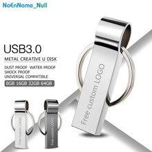usb flash drive 3.0 silver Metal pendrive 128GB 64GB 32GB 16GB 8GB 4GB memoria memory bracelet key Free LOGO