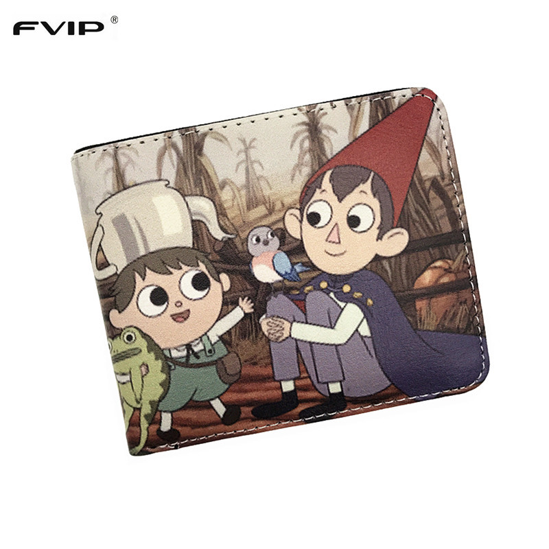 FVIP Anime Cartoon Wallet Over The Garden Wall Rick And Morty South Park Wallet Coin Purse With Card Holder anime undertale sans cartoon wallet rick and morty pickle rick purse harry potter phone bag credit card bag long style wallet