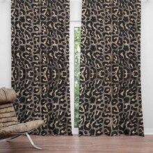 European leopard curtain polyester living room Shading curtain custom made Partition curtain soft 2.5m 2.7m bedroom curtain стоимость