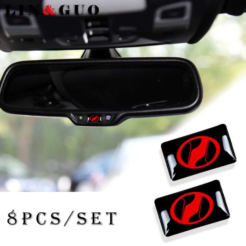 8 pièces De Voiture Style 3D petit Emblème Autocollant Roue Décalque Adapté pour Toyota 86 busard vellfire Alphard Voiture Autocollant Accessoires