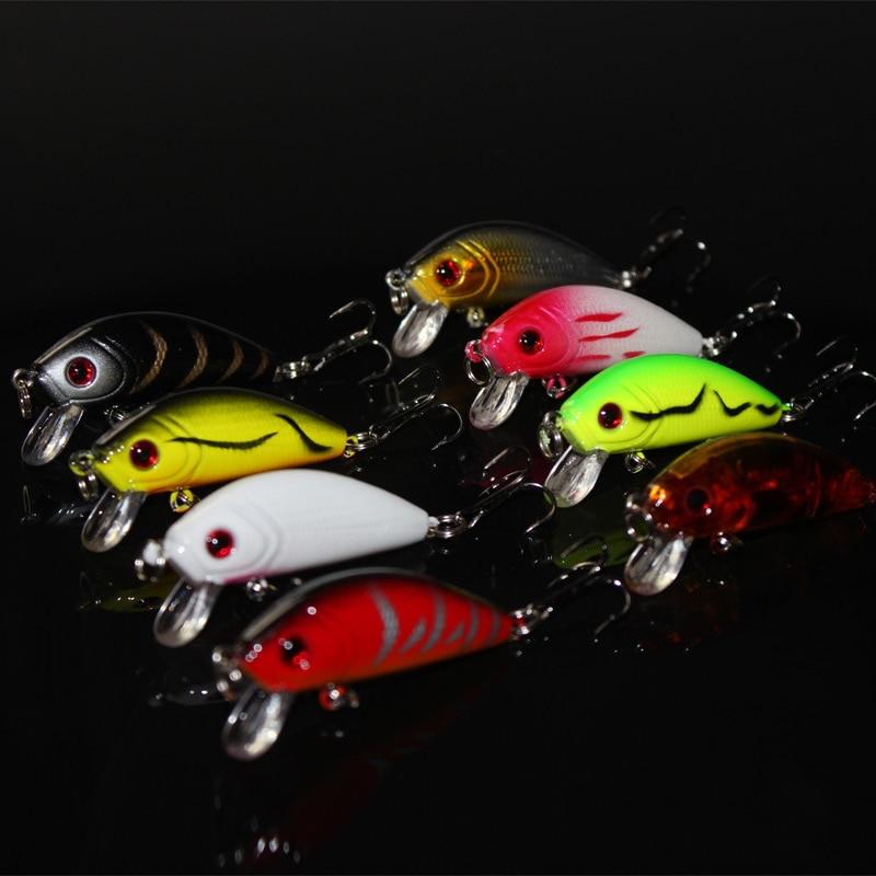 8 gab. / Karpas Minnow Crank Bait Trulinoya Lāči Zivis Mini Tauki - Makšķerēšana