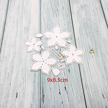 5Pcs/Lot Flower Diescuts Decor Metal Cutting Dies Scrapbooking Stamps Embossing Paper Cards Border Template Punch Stencils DIY large border punch flower knot embossing machines perfect for handmade cards craft height about 4cm 1 57inch