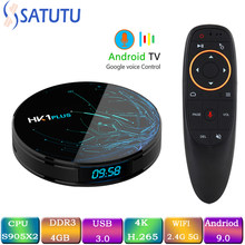 HK1 PLUS Smart TV BOX Android 9.0 Set Top Box 4 K Mi ni TV Box 4 GB 32 GB 64 GB Quad Core chơi phương tiện Hỗ Trợ IPTV PK X96 MINI H96(China)