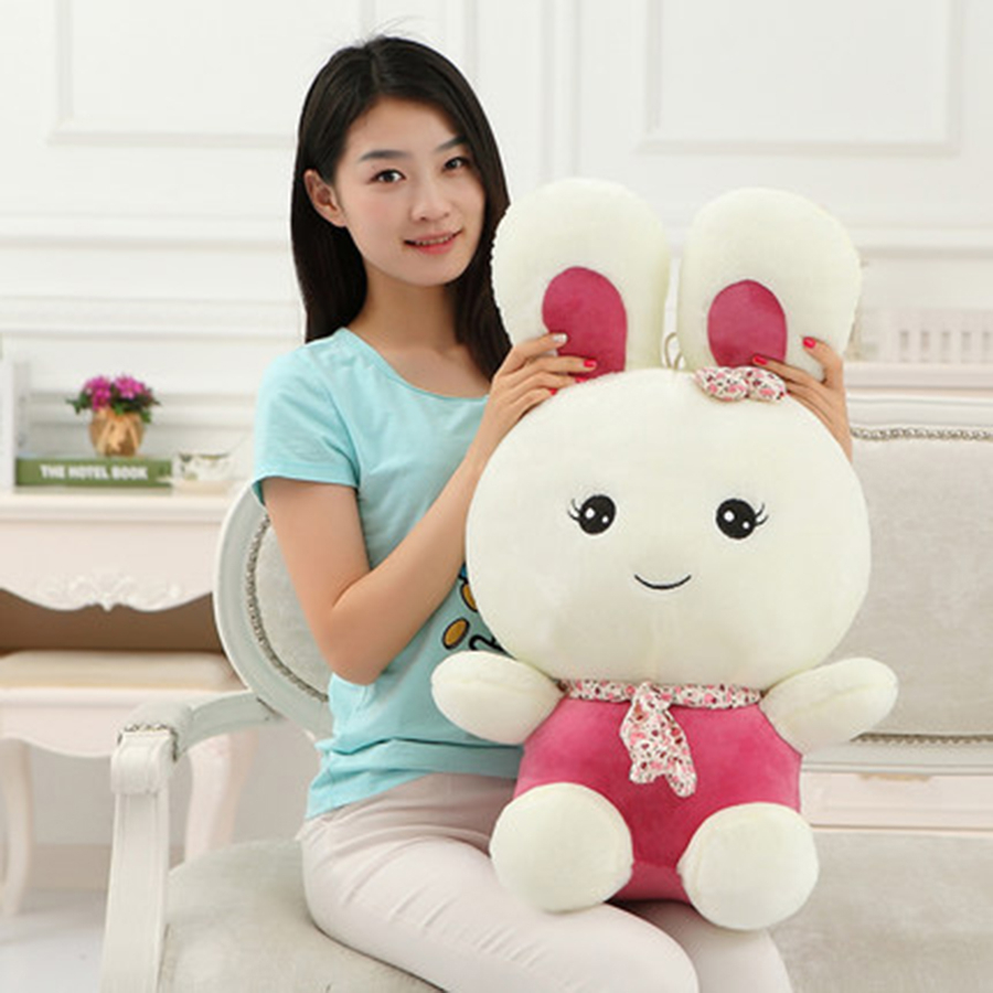 Bunny Rabbit Stuffed Animal Plush Toy Hare Pluche Stuffe Speelgoed Birthday Gift Girls Cute Plush Rabbit Toy For Baby 70C0325 28inch giant bunny plush toy stuffed animal big rabbit doll gift for girls kids soft toy cute doll 70cm