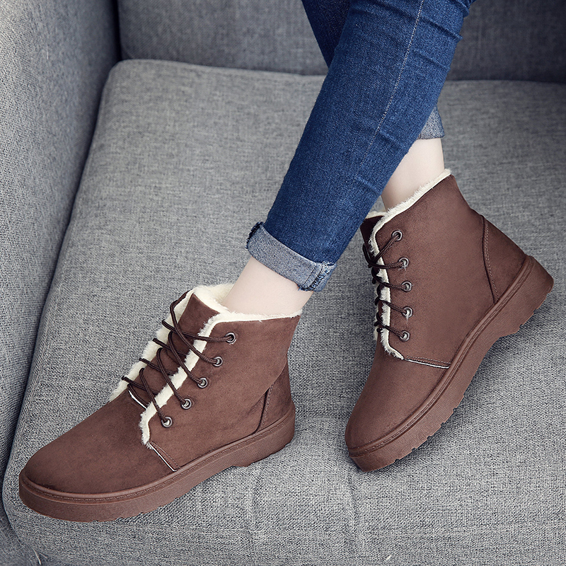 Women Snow Boots Female Boots For Women Autumn Winter Women Shoes Faux Suede Keep Warm Non Slip Flats zapatos mujer Plush Insole laser treatment machines for sale blood purifier low price phototherapy wrist type laser