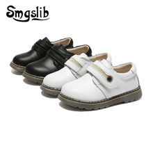 Kids Shoes Children Genuine Leather Shoes 2019 Spring Autumn Baby Boys Dress School Shoes For Girls Casual Sneaker Black Sneaker children kids boys leather shoes genuine leather shoes new black autumn boys school uniform dress shoes casual oxfords wide fit
