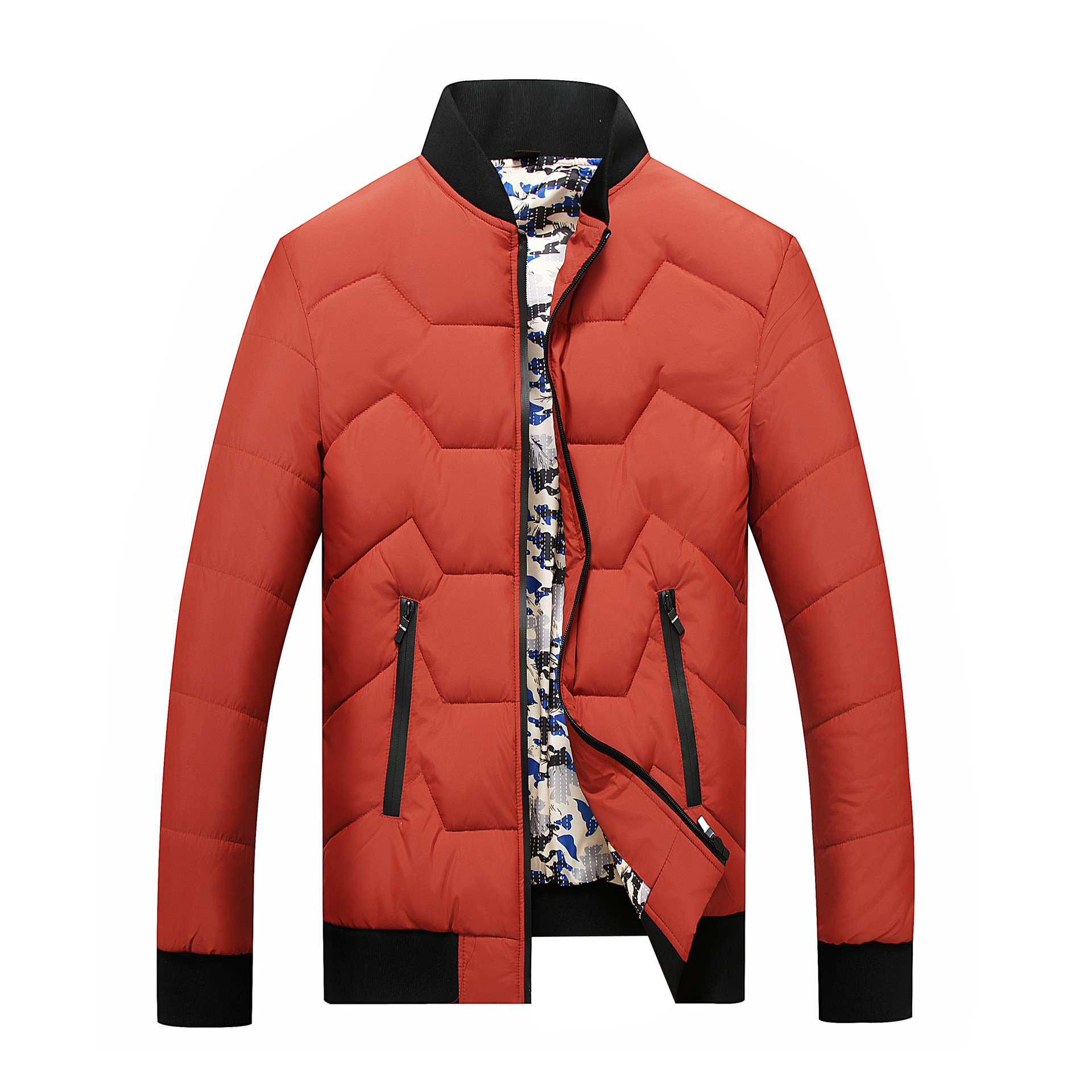 Plus Size L-8XL Mens Winter warm Jacket Thick Casual cotton clothing Windproof Parkas Coat Fashion Zipper High Quality Jackets