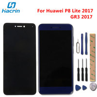 For Huawei P8 Lite 2017 LCD Display Touch Screen Frame Digitizer Assembly Replacement For Huawei P8