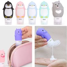60/80/90ML Portable Cute Refillable Travel Silicone Empty Bottles Shampoo Shower Gel Lotion Tube Squeeze Container Makeup Tool