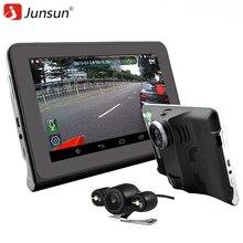 "Junsun 7""Capacitive Car DVR Camera Video Recorder Android 4.4 GPS Navigation WIFI FM Truck gps sat nav 16GB Map Free Update"
