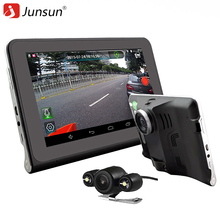 Junsun 7 inch Car DVR Camera Video Recorder Android 4.4 with GPS Navigation WIFI FM Map Free Update
