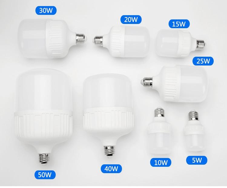 5W 15w 20W Led Light Bulb E27 Bayonet Living Room Energy-saving Lamp Super Bright White Yellow Warm Light