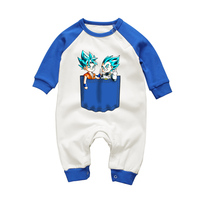 New Autumn Winter Clohtes Rompers For Baby Boys Dragon Ball Son Goku Vegeta Cartoon Newborn Infant