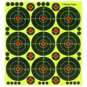 Image 5 - 25 blatt (3 zoll 9 stücke/Blatt) gewehr Schießen von selbstklebende Splatter & Reaktiven Schießen ziele für Gun Pistole