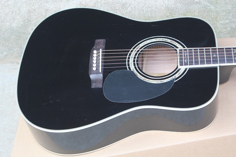 China guitar factory custom100% New BLACK D 35 acoustic electric guitar free shipping 914
