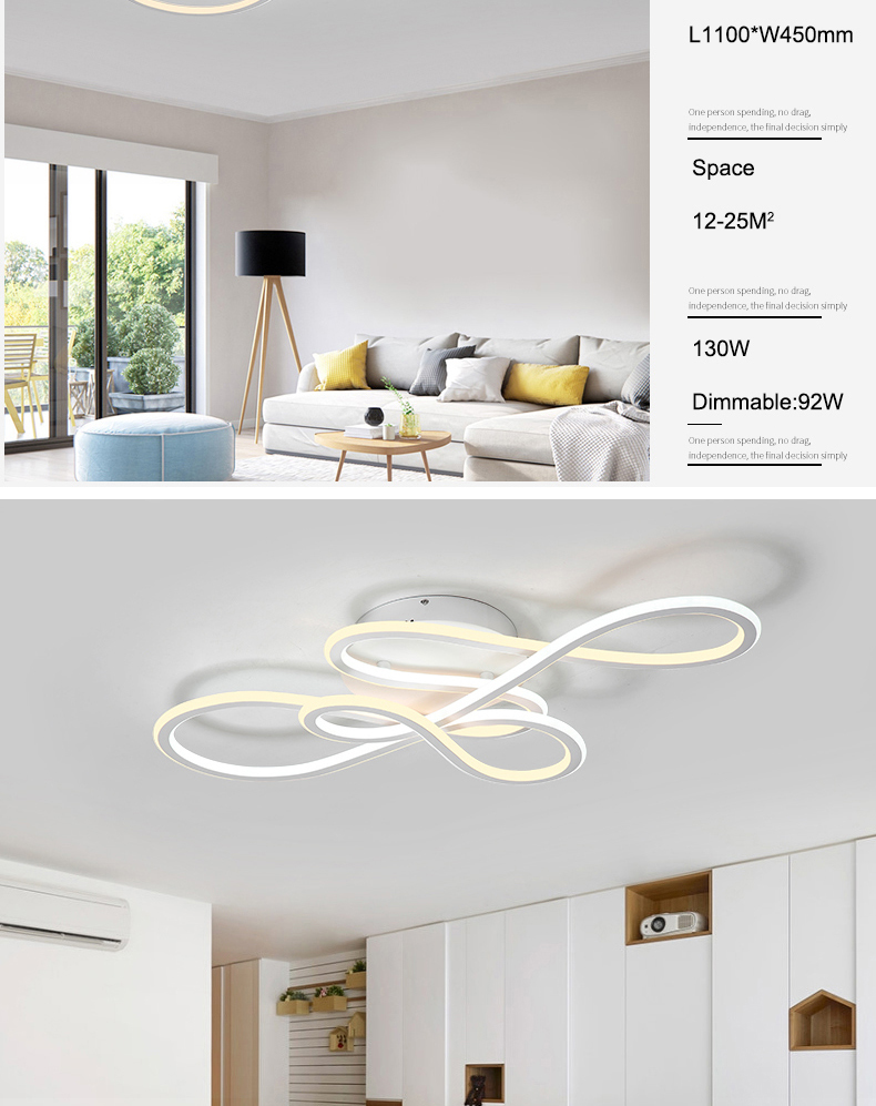 NEO Gleam Double Glow modern led ceiling lights for living room bedroom lamparas de techo dimming ceiling lights lamp fixtures
