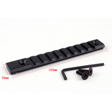 125mm Length Adapter Weaver Mount 20mm Picatinny Rail DIY Mount Base for Scope Flashlight Hunting Accessory